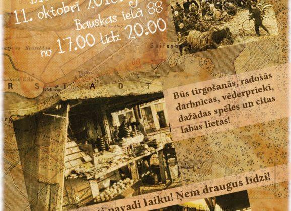 """""""Tā daļa manas Rīgas"""" 11. oktobrī no 17.00 līdz 20.00"""
