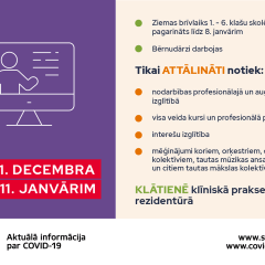 Interešu izglītība līdz 11.janvārim – attālināti